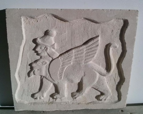 León Persa bajo relieve